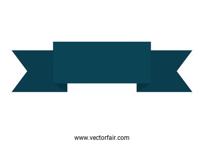 ribbon of dark blue color on white background