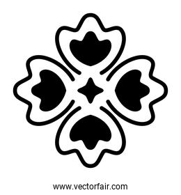 mexican clover icon on white background