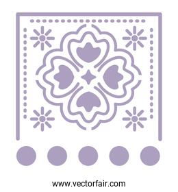 mexican purple clover icon on white background