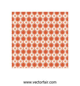 mexican sunflowers and sun icons pattern with colors on white background