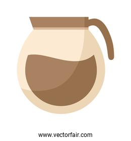 coffee jar icon in white background