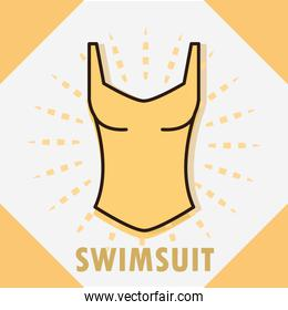 swimsuit sport accessory women clothing line and fill icon