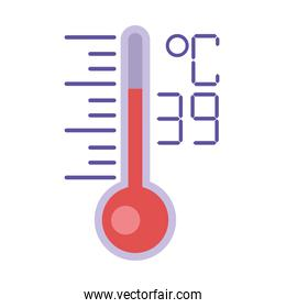 thermometer temperature measure flat style