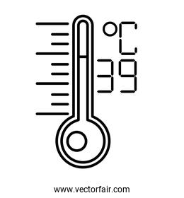 thermometer temperature measure line style