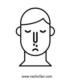 person with nose flu line style icon