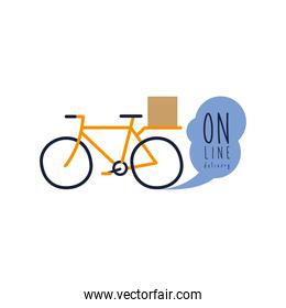 onflat delivery lettering campaign with bicycle flat style