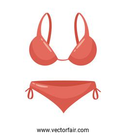fermale swimsuit clothes flat style icon