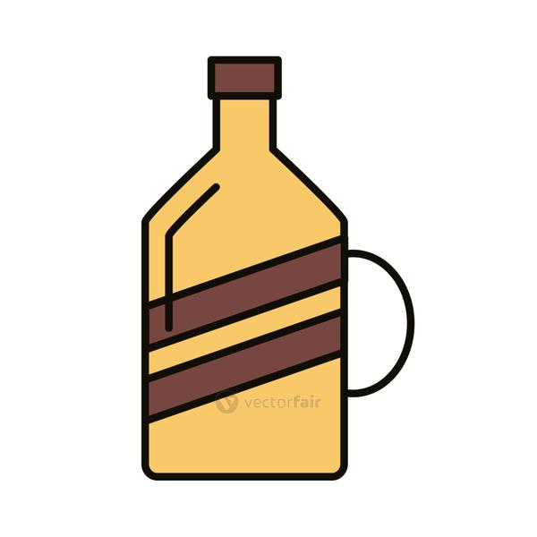 beverage yellow bottle line and fill icon