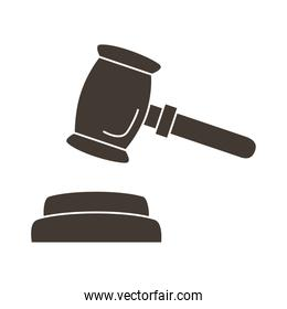 hammer judge silhouette style icon