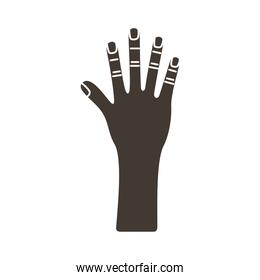 hand human stop silhouette style icon