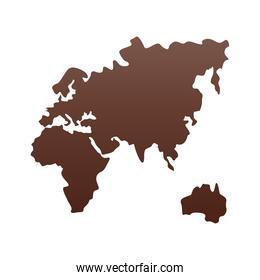 old continent silhouette isolated icon
