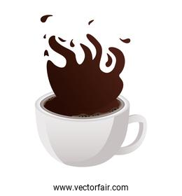 coffee cup drink splashing icon