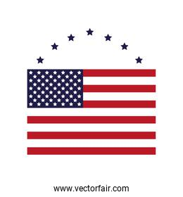 united states of america flag with stars