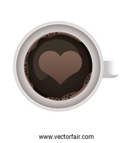 coffee cup drink with heart airview icon