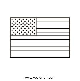 united states of america flag line style icon