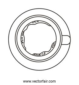 coffee cup drink airview line style icon