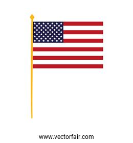 united states of america flag in pole waving