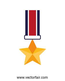 military medal with star icon