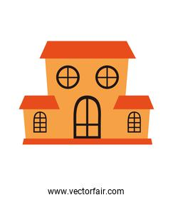 halloween haunted house building icon