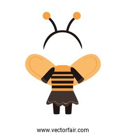 halloween disguise of bee icon
