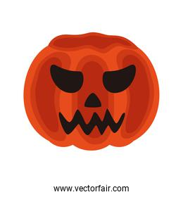 halloween pumpkin jack dark face icon