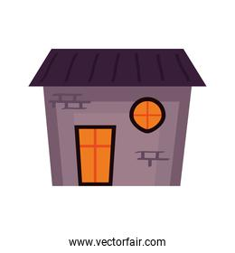 halloween house haunted building icon