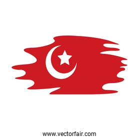 turkey flag country patriotic painted silhouette