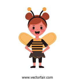 little girl with bee disguise character