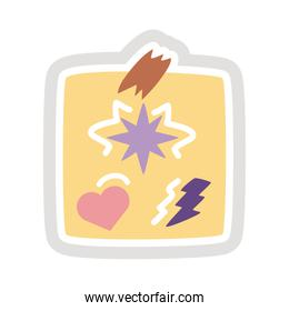 paper note sticker flat style icon