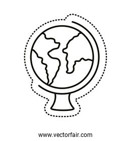 world planet earth sticker line style icon