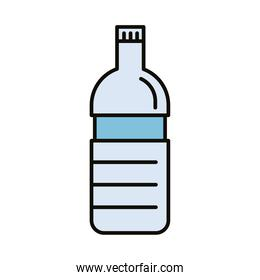 beverage water bottle line and fill icon