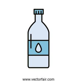 beverage water bottle with drop line and fill icon