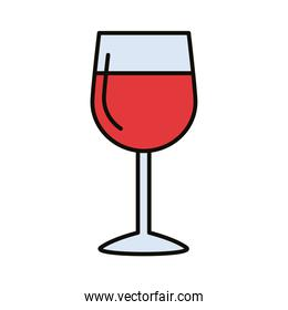 wine cup beverage line and fill style icon