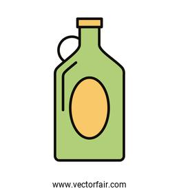 beverage green bottle line and fill icon