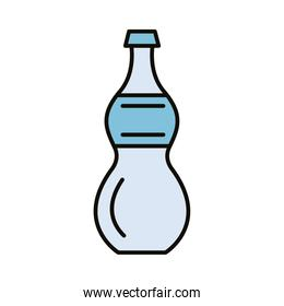 beverage bottle water line and fill icon
