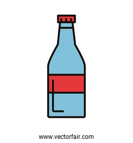 beverage water bottle drink line and fill icon
