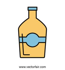 beverage bottle yellow line and fill icon