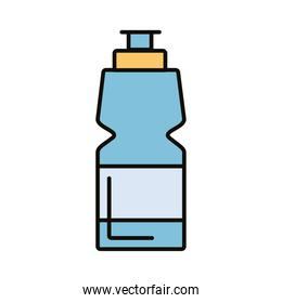 beverage gym bottle line and fill icon