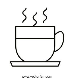 coffee in cup hot beverage line style icon