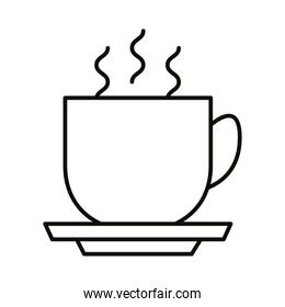 coffee cup hot beverage line style icon