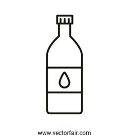 beverage water bottle with drop line icon
