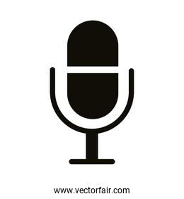 microphone sound silhouette style icon