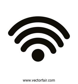 wifi connection signal silhouette style icon