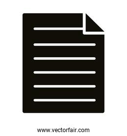 paper document silhouette style icon