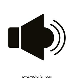 megaphone sound device silhouette style icon