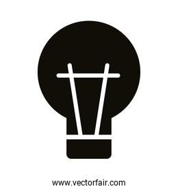bulb light silhouette style icon