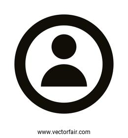 user avatar silhouette style icon