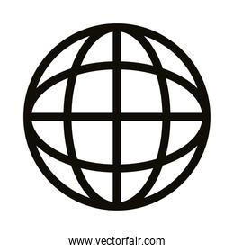 sphere planet silhouette style icon