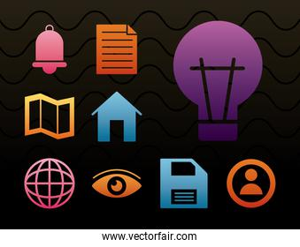house with interface silhouette style icon