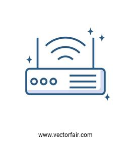 router signal device technology object line style icon